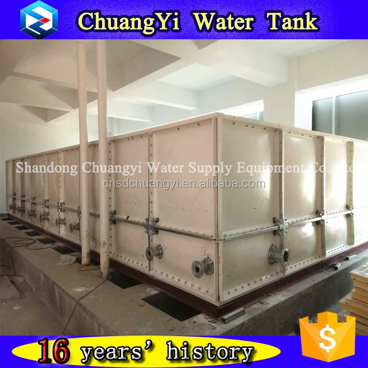 High Quality Chuangyi GRP Fiberglass Fish Tank Price for Irrigation water/Fire-fighting water/Drinking Water Treatment