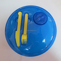 Promotion Gift Portable Plastic Round Lunch Box