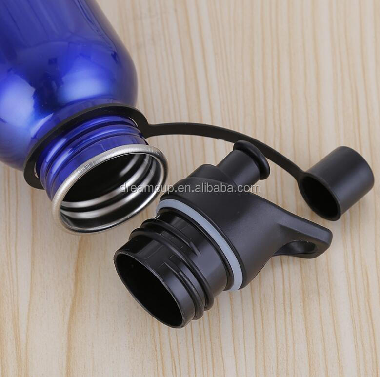 single wall stainless steel drinking bottle water sports bottle with exchangeable cap