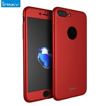Free Tempered Glass Original Ipaky 360 Degree Full Coverage Hard PC Phone Back Case Cover For iPhone 7 7 Plus 7plus
