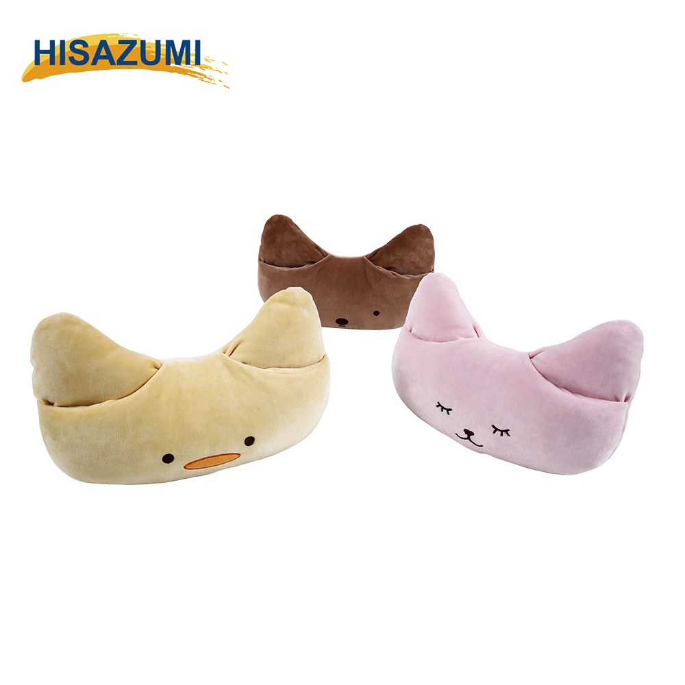 Cute Animal Resilient Soft Warm Embroidery Customized Bolster Cushion Stuff Toy Rest Pillow