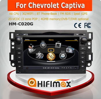 Hifimax car gps dvd player for CHEVROLET CAPTIVA(2006-2010) WITH A8 CHIPSET DUAL CORE 1080P V-20 DISC WIFI 3G INTERNET