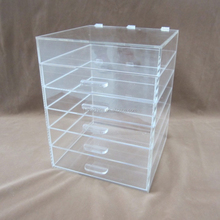 customized plastic clear makeup cosmetic organizer acrylic storage drawer box