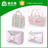 Stripe pink lady cosmetic bag wholesale promotional custom luxury cosmetic bag