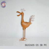 Unique Metal Products of Natural Rusty Metal Bird for Home Decor
