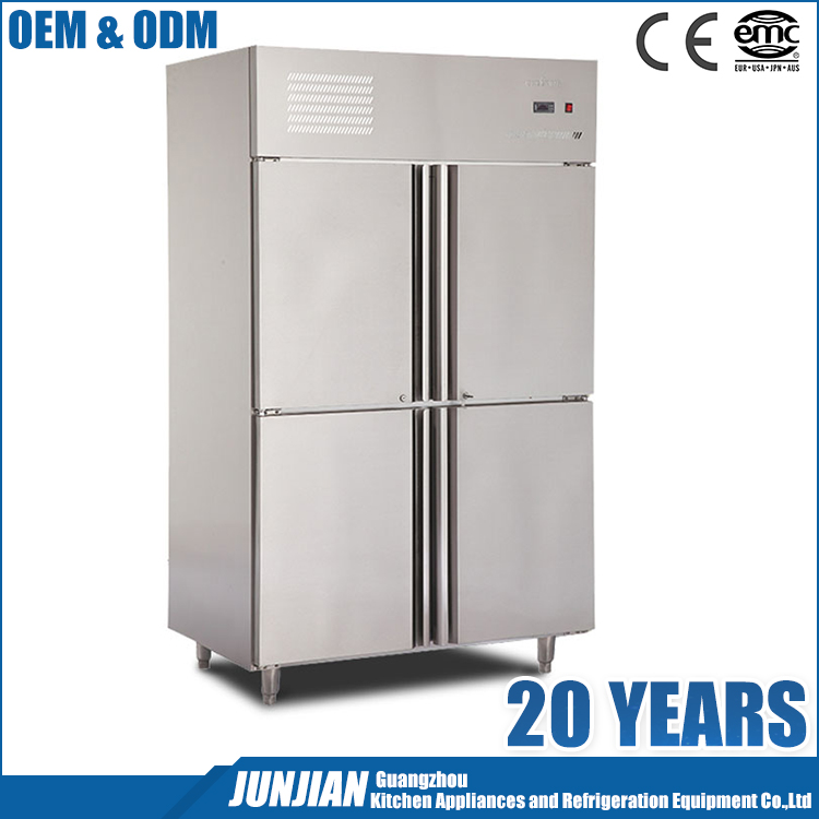 Commercial 4 Doors Restaurant use In Refrigerator satic cooling feezer 1.0LG