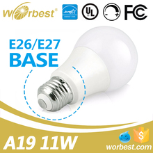 Shenzhen Factory Low Price UL listed LED Bulbs Daylight 2700-5000K 11W Dimmable LED Electric Bulb E26 base