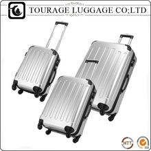 3 pcs Travel Custom Luggage Set , Hot Sale ABS Travel Trolley Suitcase