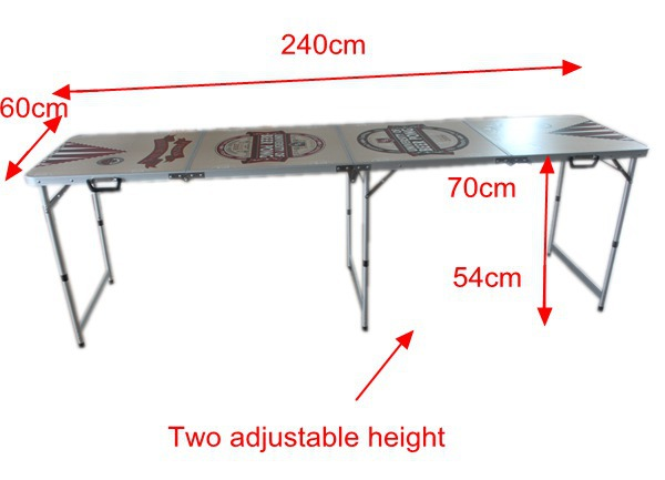 4 Sections (2.4m 8') Folding Classic Beer Pong Table