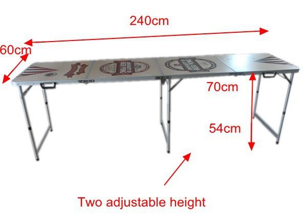 4 abschnitte 8 39 falten klassischen bier pong tisch for Beer pong tisch eigenes design
