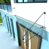 China supplier outdoor Glass Canopy with ss304 Fittings