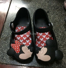 2015 cute mini melissa garden shoes minie mouse eva clogs shoes