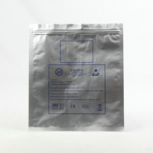 customized laminated plastic ziplock antistatic bag 3 side seal pouch