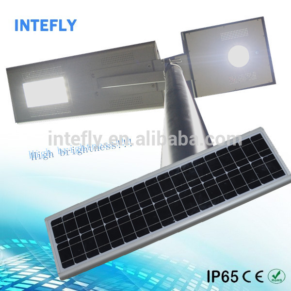 Motion sensor smart solar street light intelligent pwm solar charge controller solar light lithium-ion battery