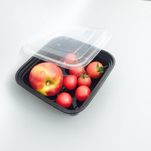 disposable square plastic food container