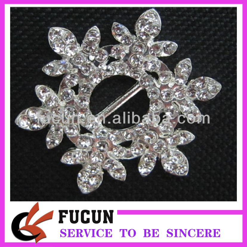 snowflake rhinestone buckles for wedding invitations