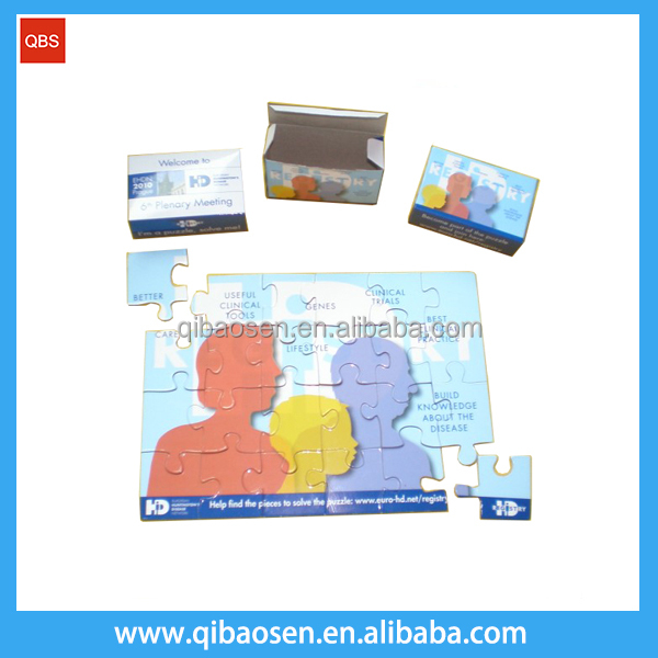 Promotional children educational toy games puzzle / customized magnetic puzzle/ 3d cube puzzle game