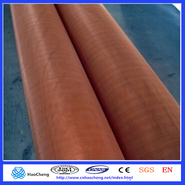 Plain weave 40 60 80 mesh magnetic shielding material copper mesh fabric