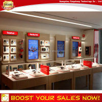 Modern retail cellphone store display fixture for china mobile phone display