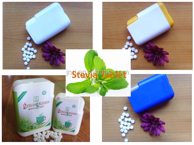 Stevia sugar tablet
