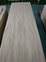 New Item cheap laminated white oak wood timber mdf face veneer sheets for decorative furniture wall hotel