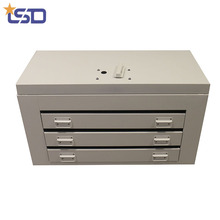 Beautiful Cabinet Style White Aluminum Tool Box With Drawers