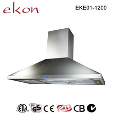 2000m3/hr Airflow Suction Twin Motors Stainless Steel 120cm Commercial Outdoor Heavy Duty Kitchen Hood