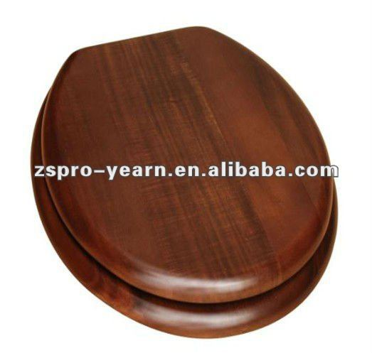 Acacia Wood Wooden Toilet Seat Cover