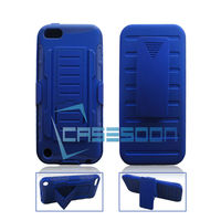 Rugged Hybrid Hard Case Cover Belt Clip Holster for Apple iPod Touch 5