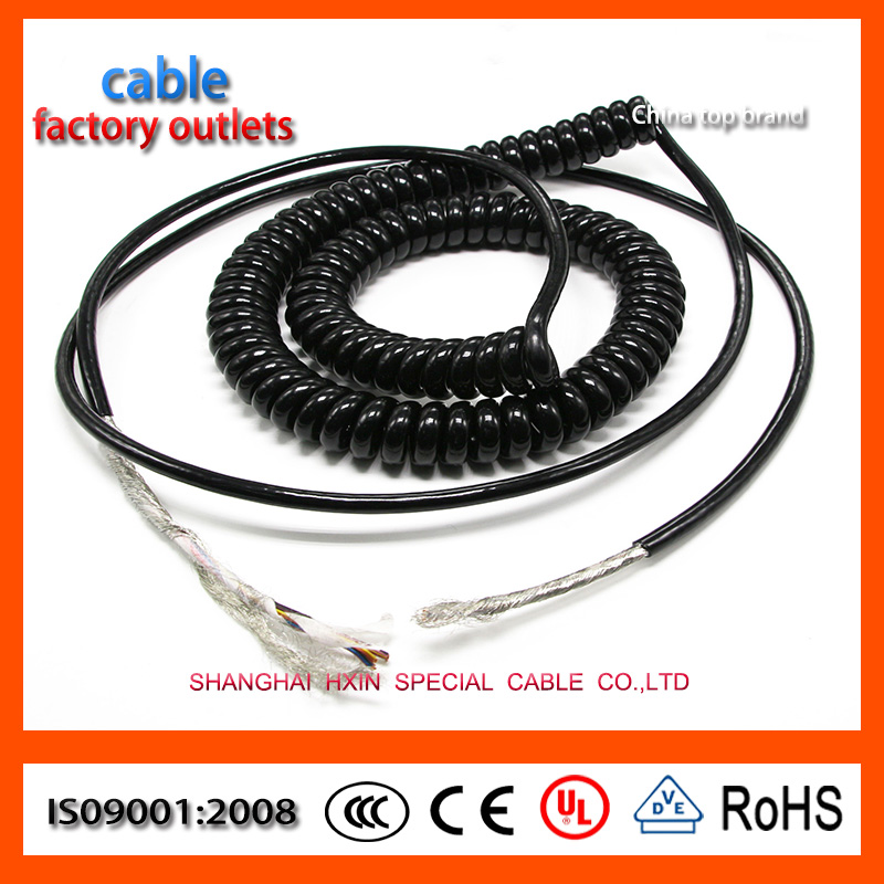 PU PVC PUR Spiral cable