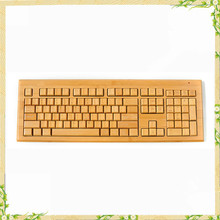 High quality Natural bamboo wireless computer arabic keyboard