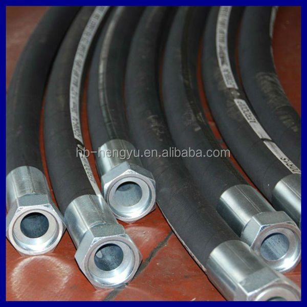 High pressure flexible hoses hydraulic Rubber Hose R9/4SP tubing manufacturer
