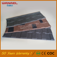 50 years life span warranty China supplier Wanael Shingle Color Stone Coated Metal Antique Chinese Roof Tile