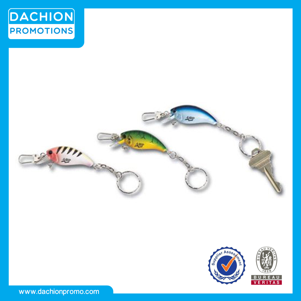 Promotional Fishing Lure Keychain with Clasp/initial keychain/keychains for sale