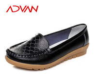 2016 Cow Leather Fashion Casual Flat Loafter Ladies Shoes Black