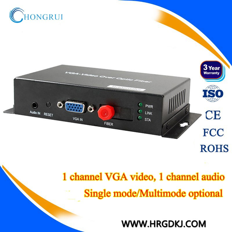 VGA Digital Video Converter /Audio/Data Fiber Optical Transmitter and Receiver