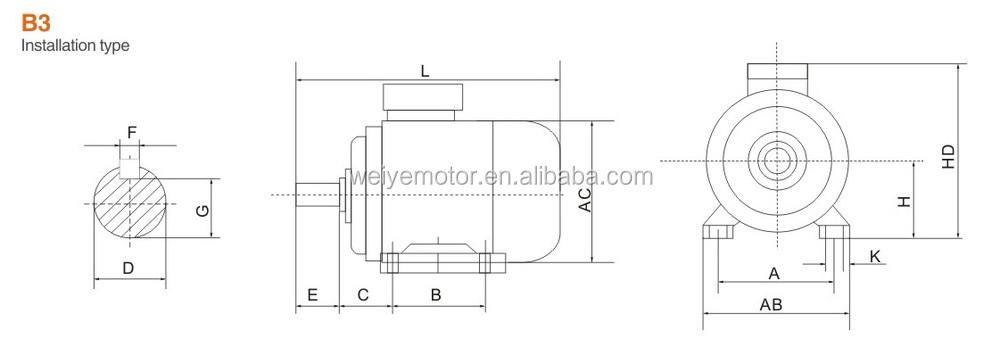 single phase centrifugal switch electric motor 220v 3kw