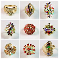 2016 Latest Copper Alloy Material 18k Gold Ziron Wholesale Girls Fashion Finger Rings Design