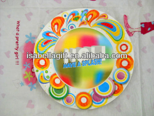 Cheap!!! 2013 New design kids happy birthday party paper plate