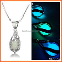 Dragon Claw Cyan Luminous ball Glow in the dark Cyan necklace Glowing Pendant Necklace