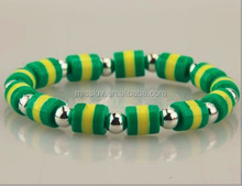 brazil country flag color beaded bracelet jewelry various flag color bead bracelets best football fan gifts