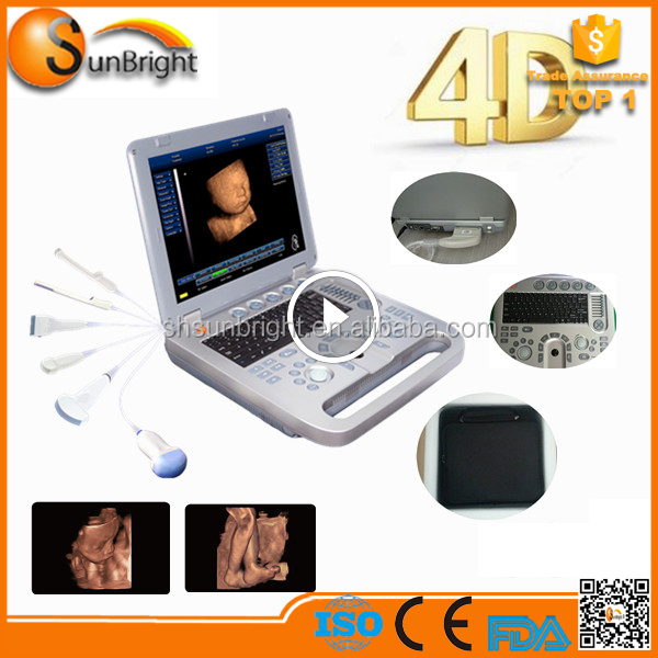 Portable Medical Ultrasound scanner Sun-800E for Pregnancy with 4D video