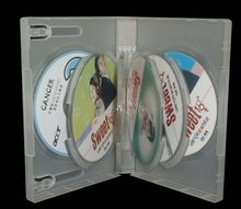 multiple discs cases-super clear pp plastic dvd case