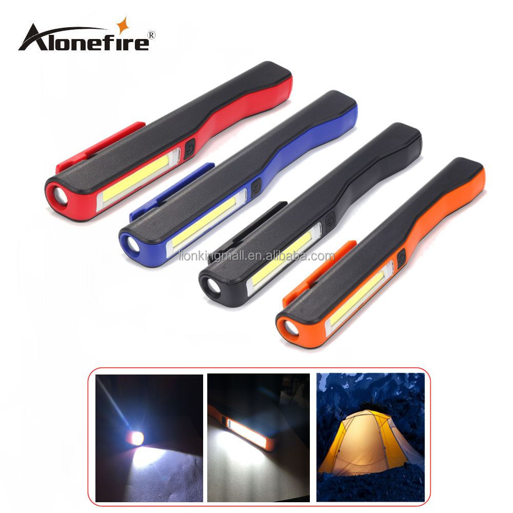 AloneFire <strong>C018</strong> Portable MiniUSB Led Hand Torch USB Rechargeable Magnet Clip Work Light Inspection Lamp
