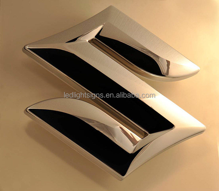 Mirror metal LED light 3d marquee letters used outdoor lighted signs stainless steel signage for big company name