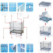 High quality Warehouse stackable storage steel roller cages