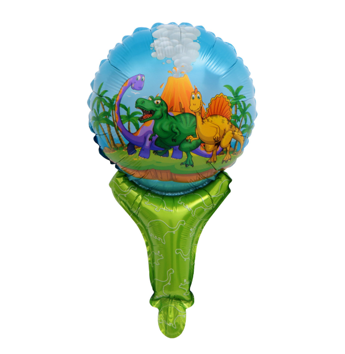 Hot Hand Stick Children's Toy Balloon Cartoon Inflatable Blow Stick To Push Small Gift Balloon