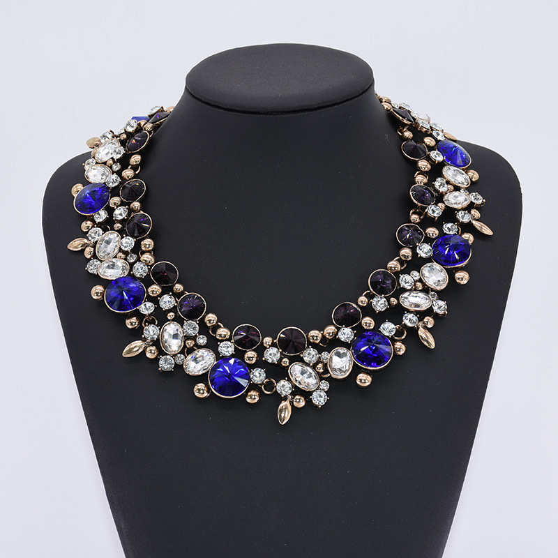 New design Luxury high quality rhinestone statement necklaces for women Jewelry