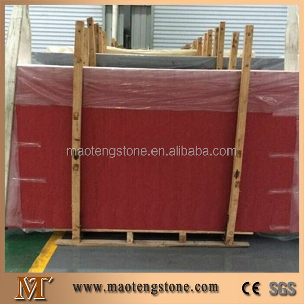 Building materials artificial red quartz slabs house designs quartz stone