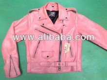 Pink ladies Leather Brando Jackets